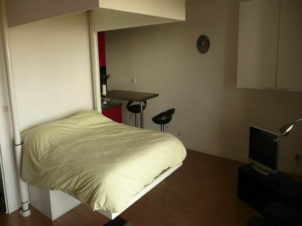 nous gérons immobilier: studio 31 m², module flexible lit double en hauteur