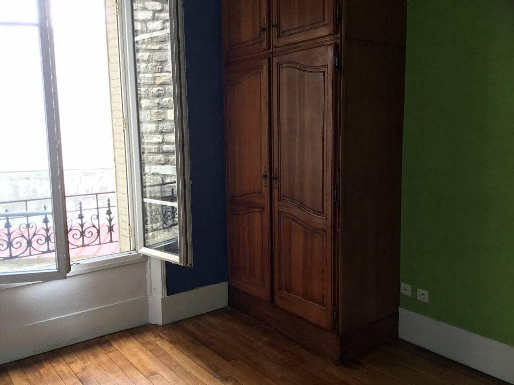 location appartement maison alfort: 3 pièces 56 m², chambre à coucher, parquet au sol