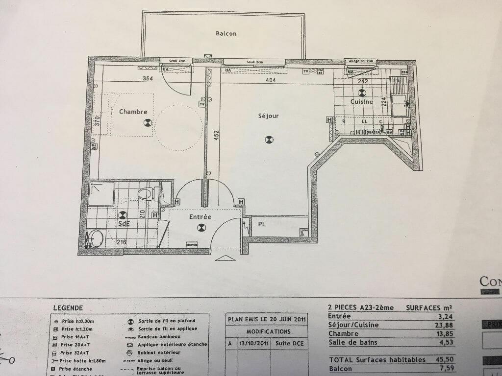 louer appartement à alfortville - - 2 pièces - 45,50 m² - annonce G267 - photo Im03 | agence valérie immobilier