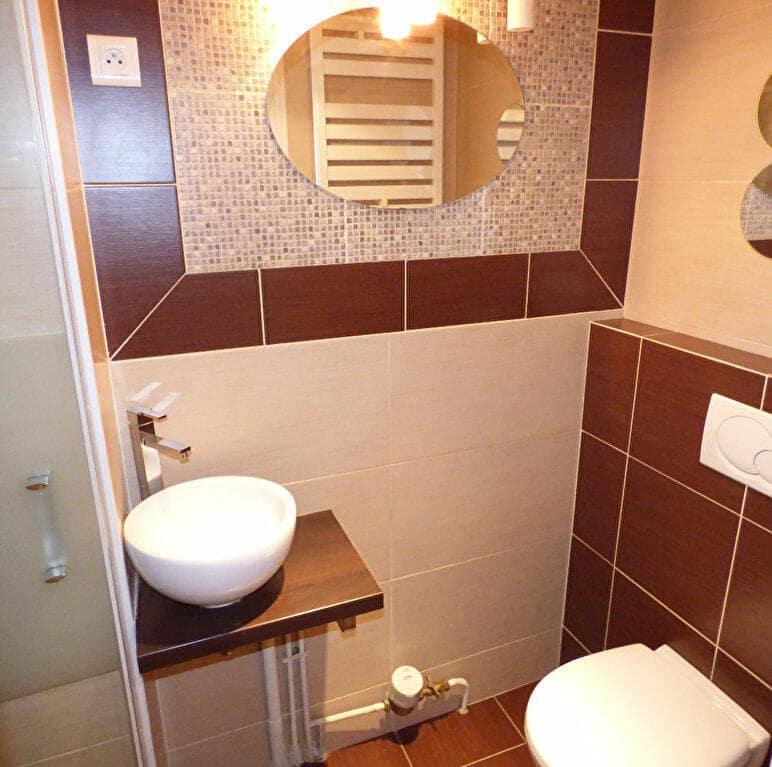 agence de la mairie charenton: appartement 2 pièces 21 m², salle d'eau avec douche et wc