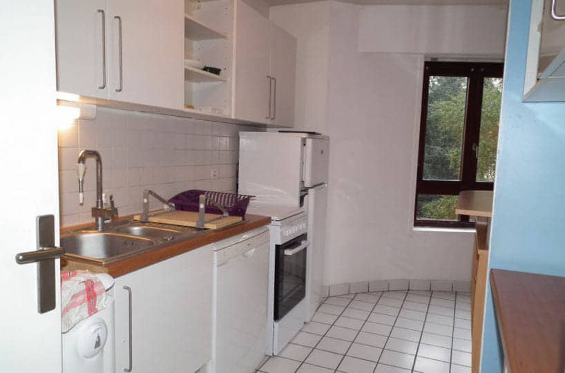 immobilier 94: studio 35 m², cuisine équipée avec nombreux rangements