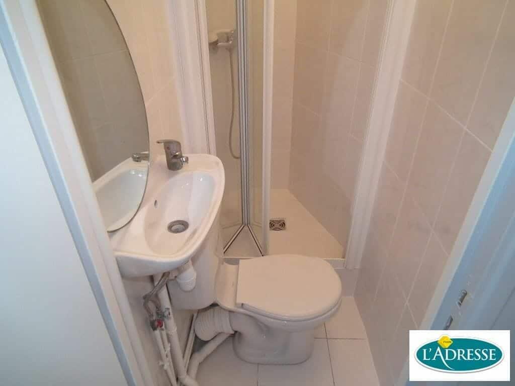 studio à louer charenton: 12 m², secteur écoles, salle d'eau avec douche et wc