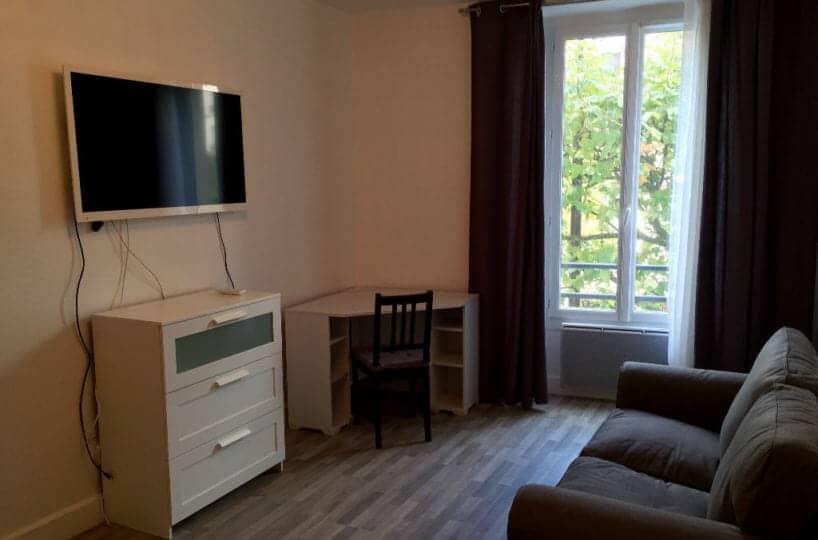 appartement à louer charenton: 2 pièces 32 m², séjour avec parquet au sol