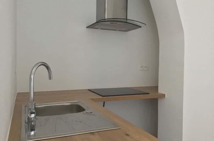 immo alfortville: 2 pièces 50 m², cuisine indépendante, plaques de cuisson, hotte