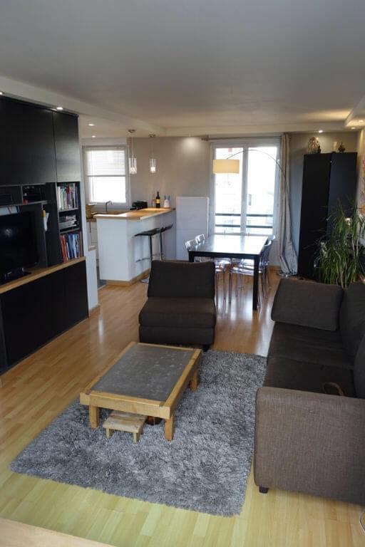 l adresse alfortville: 3 pièces 64 m², séjour ouvert sur cuisine aménagée, équipée