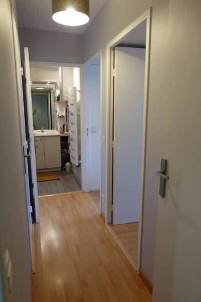 appartement alfortville location: 3 pièces 64 m², couloir donnant sur chambres et salle de bain