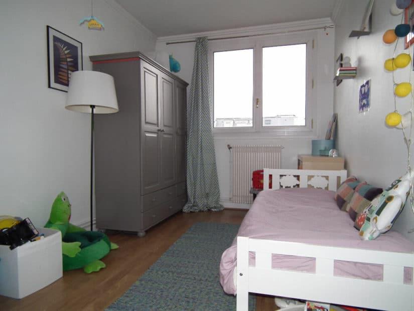 l adresse alfortville: 3 pièces 55 m², chambre à coucher avec armoire encastrée