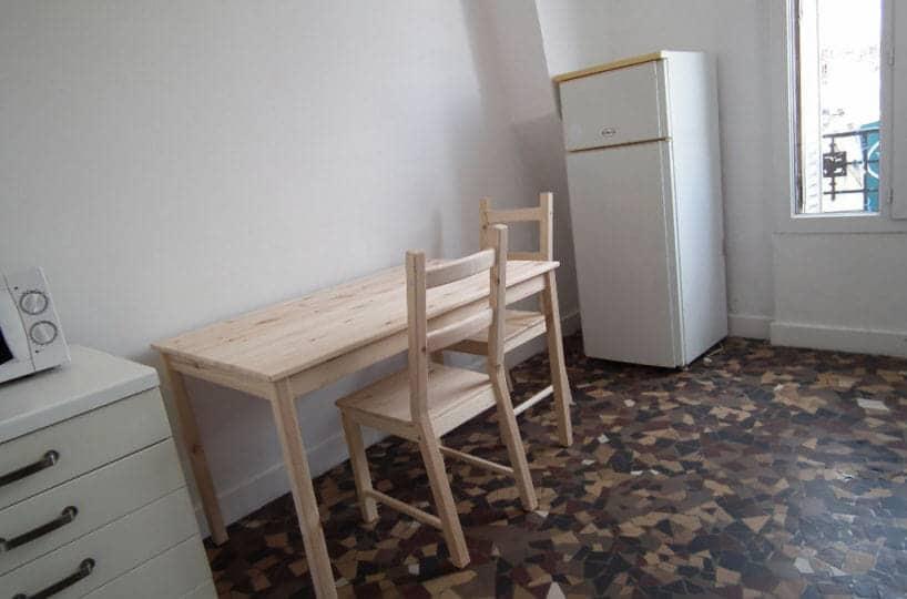 louer appartement à alfortville - t1 24 m² meublé, ref.G378 Im02, pièce principale avec coin bureau
