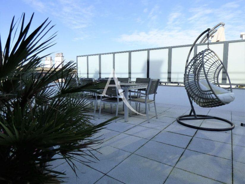 appartement à vendre maisons alfort, 3 pièces 68 m², ref.3107, aperçu de la grande terrasse depuis le séjour