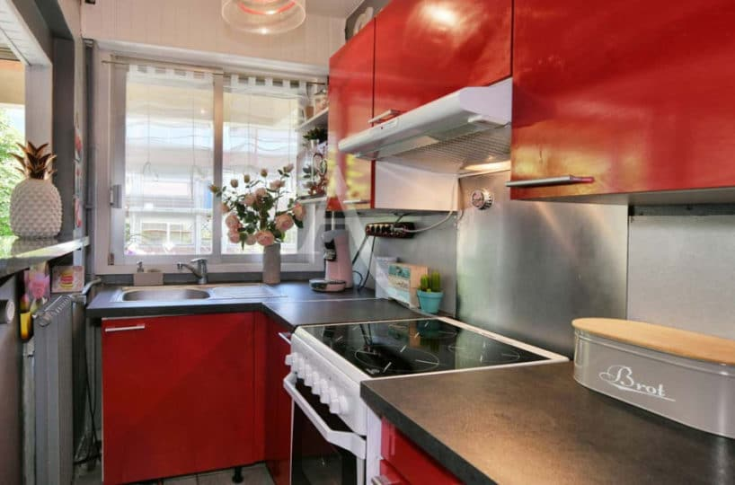 immo maisons alfort: 2 pièces 37 m² + terrasse,  cuisine équipée ouverte