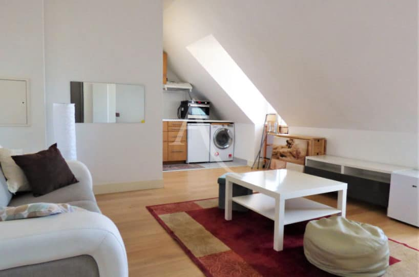 immobilier a maisons alfort: studio 29 m², séjour double meublé et cuisine équipée