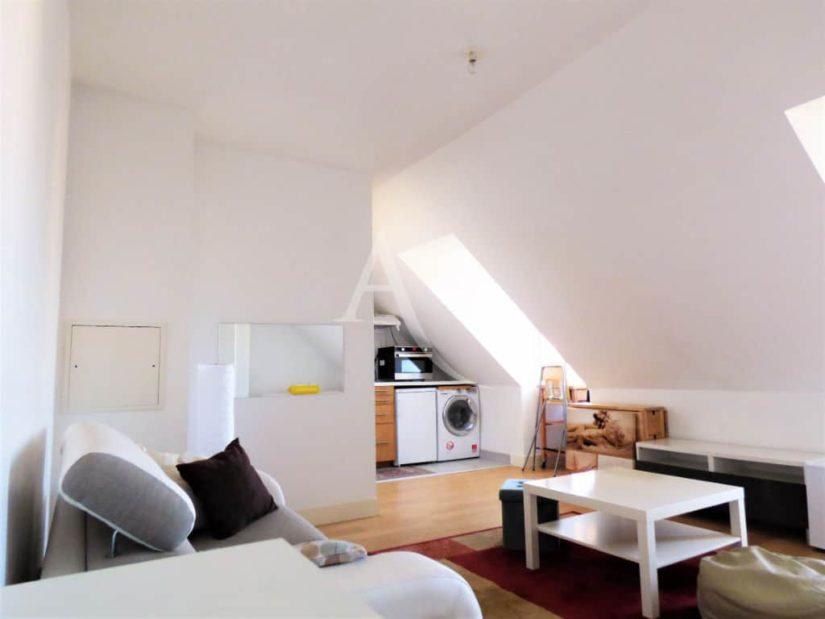 appartement maisons alfort: studio, séjour double meublé - coin cuisine