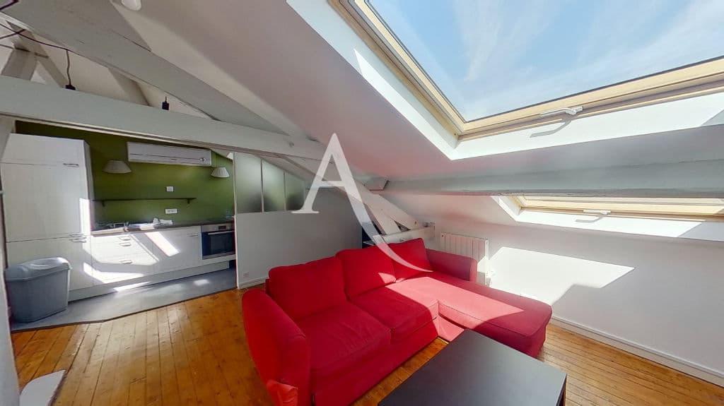 appartement alfortville: studio 24 m², séjour lumineux, 2 vélux