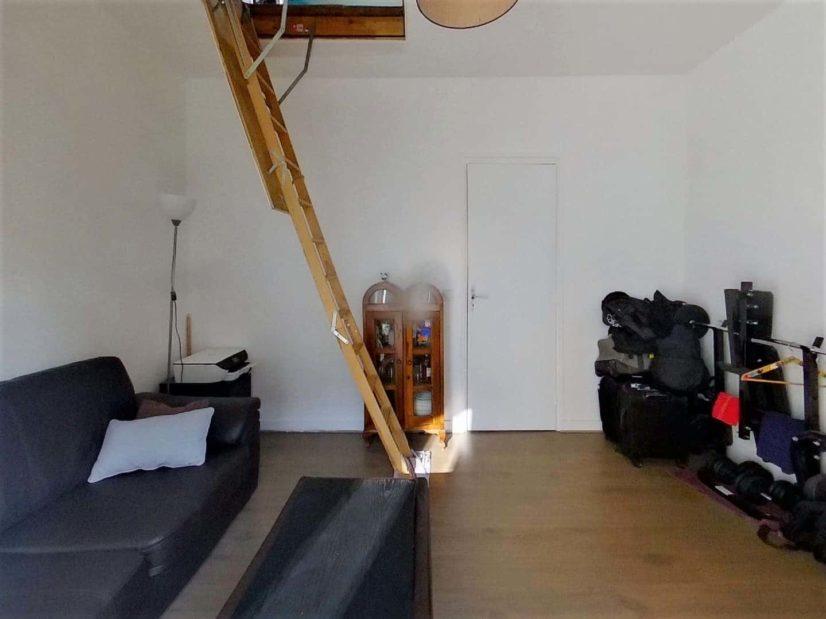 immo 94: maison 3 pièces 55 m², séjour avec accès à la double chambre