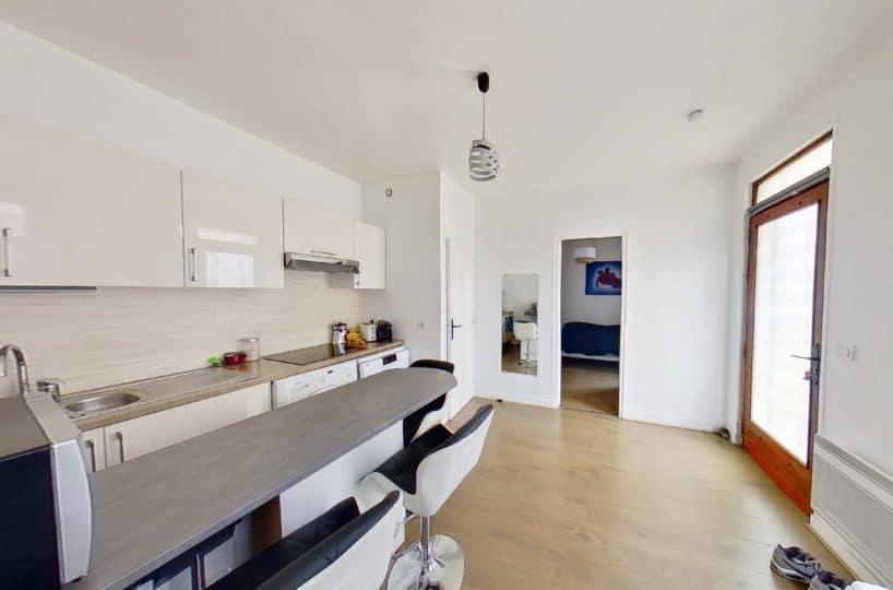 immobilier maison: à st maur des fossés, 3 pièces, cuisine moderne aménagée et ouverte