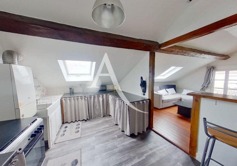 appartement à vendre charenton-le-pont: 2 pièces 48 m², cuisine ouverte au séjour, poutres apparentes