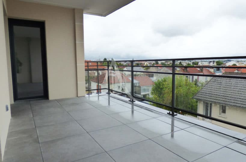 agence location immobiliere: le perreux sur marne, 2 pièces 44 m², grande terrasse sud sans vis à vis