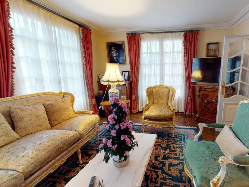 immobilier maison: 7 pièces alfortville, séjour, cheminée, porte fenêtre