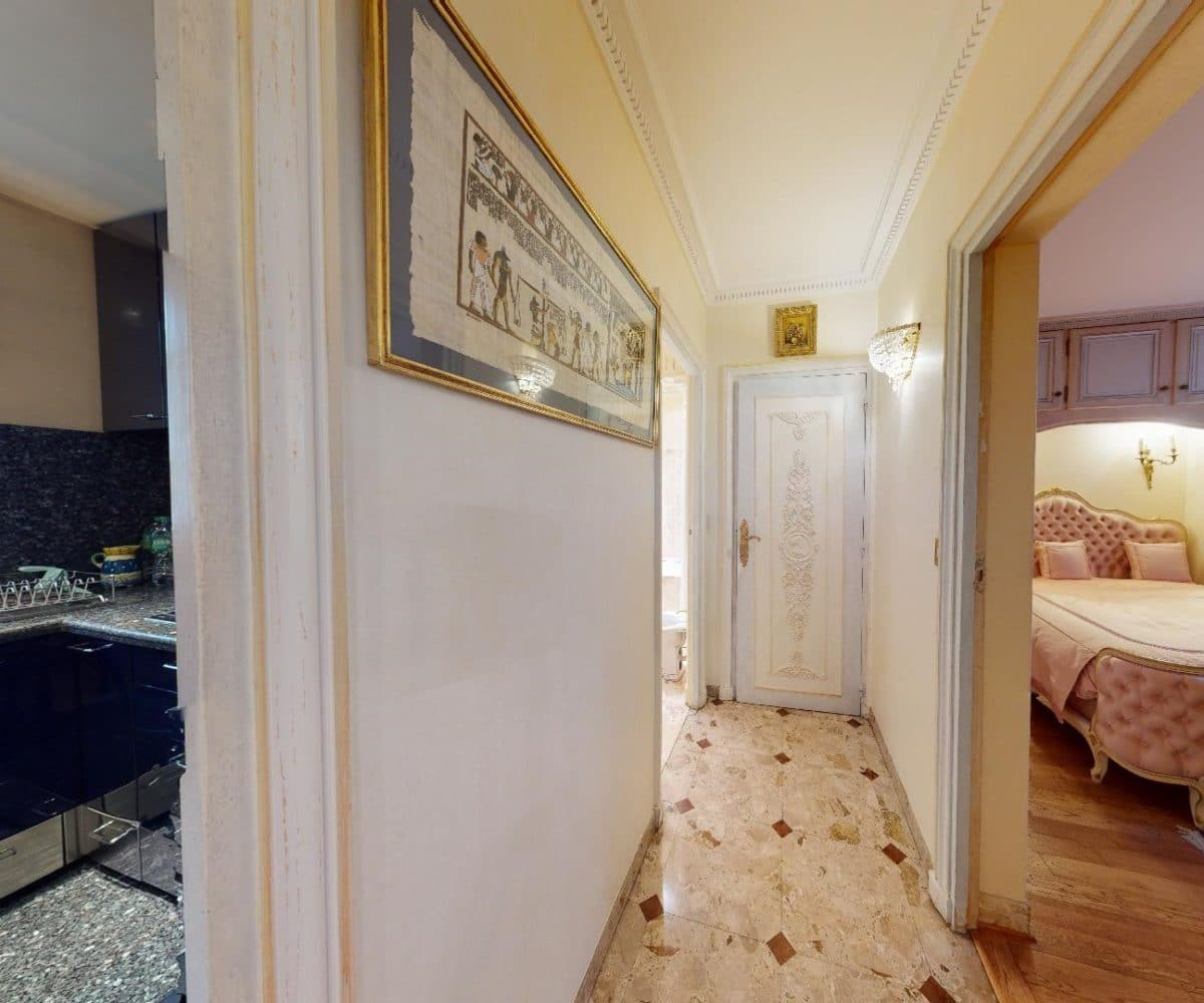 immo alfortville: maison 7 pièces, couloir accès cuisine et chambre au rez-de-chaussée