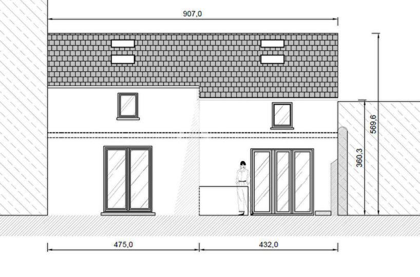 vente maison charenton-le-pont: 4 pièces 90 m², plan de la façade (toiture et façade rénovées)