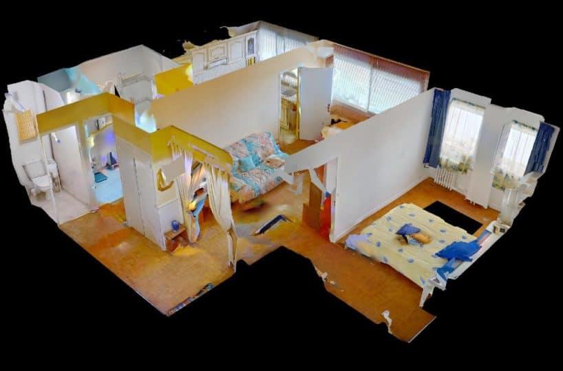 vente appartement maisons alfort: 2 pièces 50 m², vue en 3d