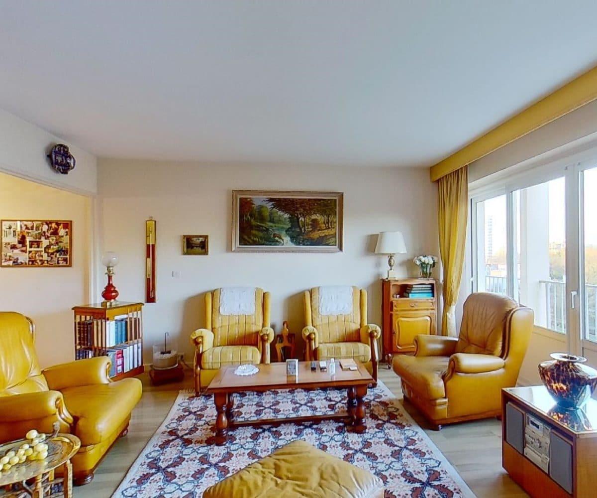immo maisons alfort: àvendre 4 pièces 80 m², double séjour, balcon/terrasse de 10 m², vue sur parc