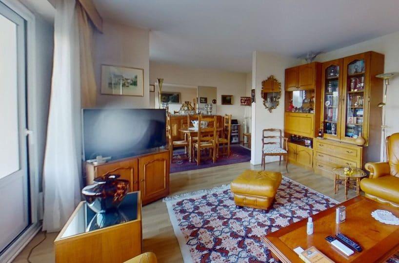 agence immobilière maison alfort: appartement 4 pièces, double séjour, large balcon vue parc