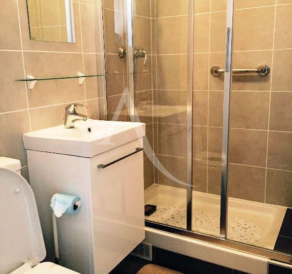 immobilier 94: studio meublé 16 m² refait à neuf à louer à vincennes, salle d'eau impeccable