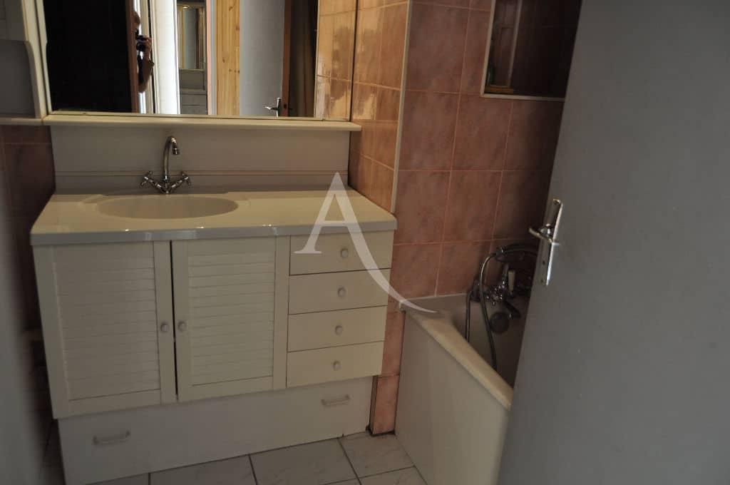 immobilier maison alfort: studio 30 m², salle de bain avec baignoire et rangements