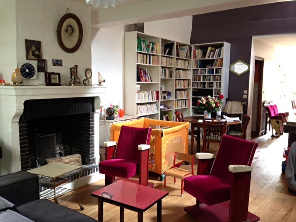agence alfortville: maison 6 pièces 180 m², salon/salle à manger avec terrasse, cheminée