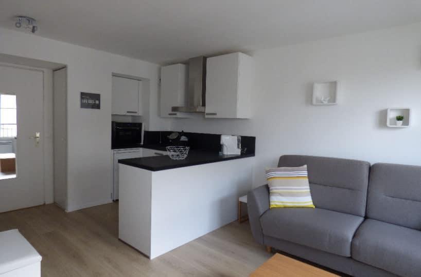 estimation appartement: studio 26 m² en très bon état, avec cusine us aménagée