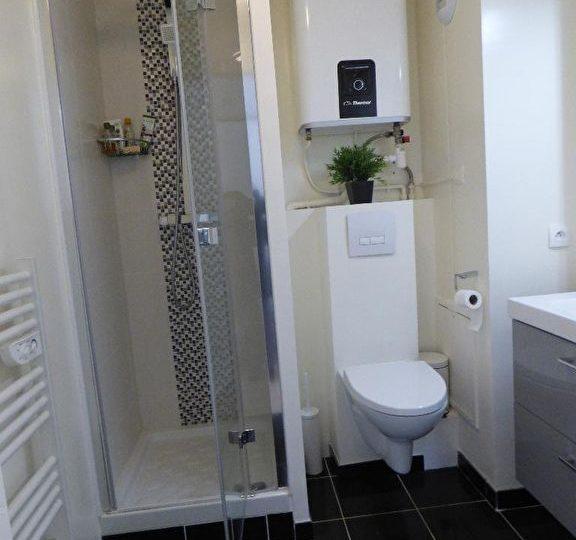 appartement à rénover alfortville: studio 26 m², salle d'eau avec wc et cabine douche
