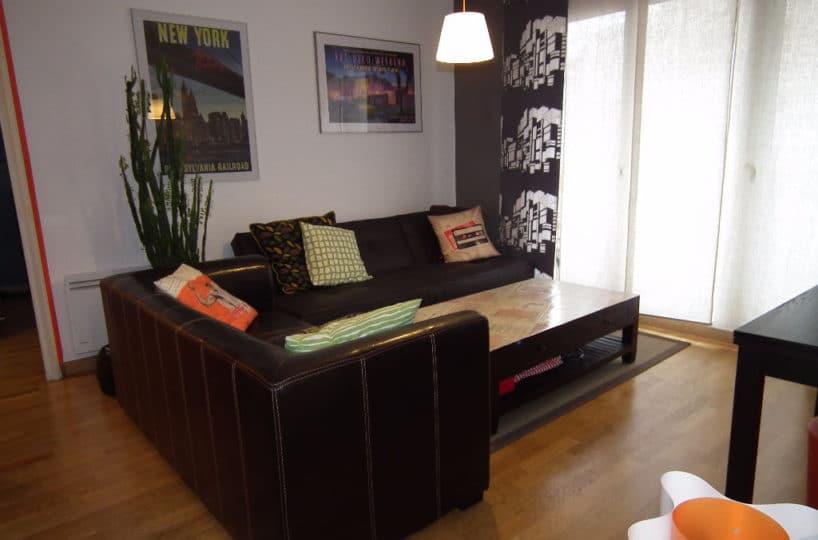 vente appartement alfortville: 3 pièces 56 m², séjour lumineux avec parquet au sol