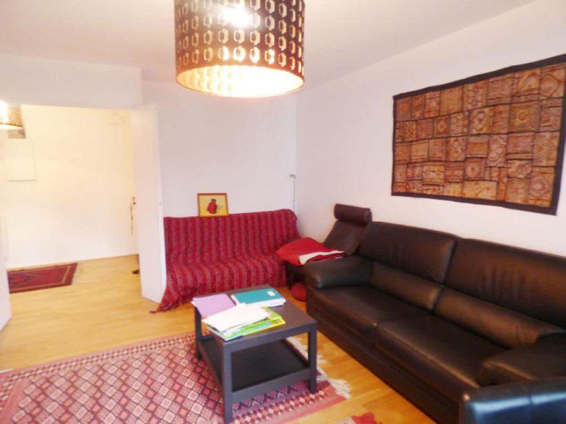 vente appartement maison alfort: 3 pièces 65 m², séjour avec balcon, double exposition sur/ouest