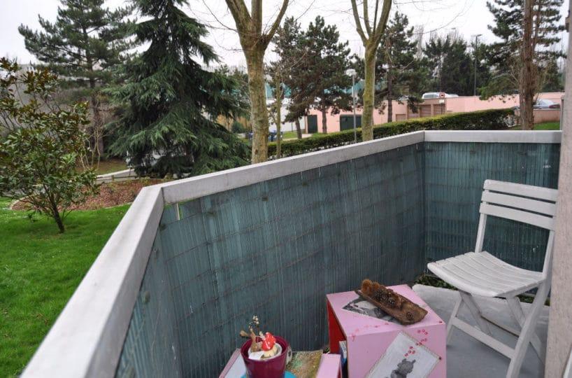 appartement maisons alfort: 3 pièces 60 m² à vendre, balcon avec vue sur parc