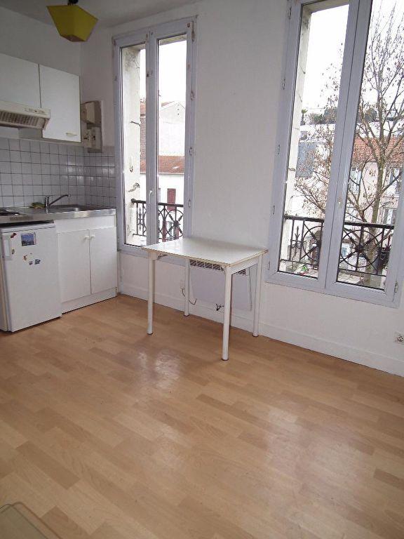 vente appartement alfortville: 22 m², séjour avec cuisine équipée avec plaques et hote