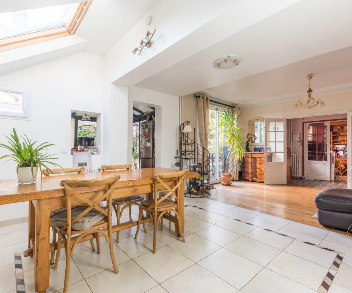 maison a vendre maison alfort: maison 9 pièces, rdc: séjour, 1° salon et 2° salon