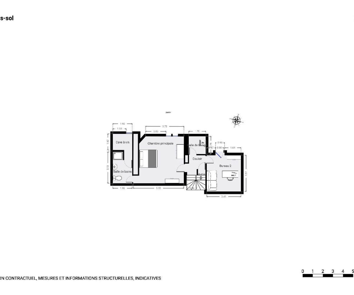 maison maisons alfort: maison 9 pièces 200 m², plan détaillé du sous-sol