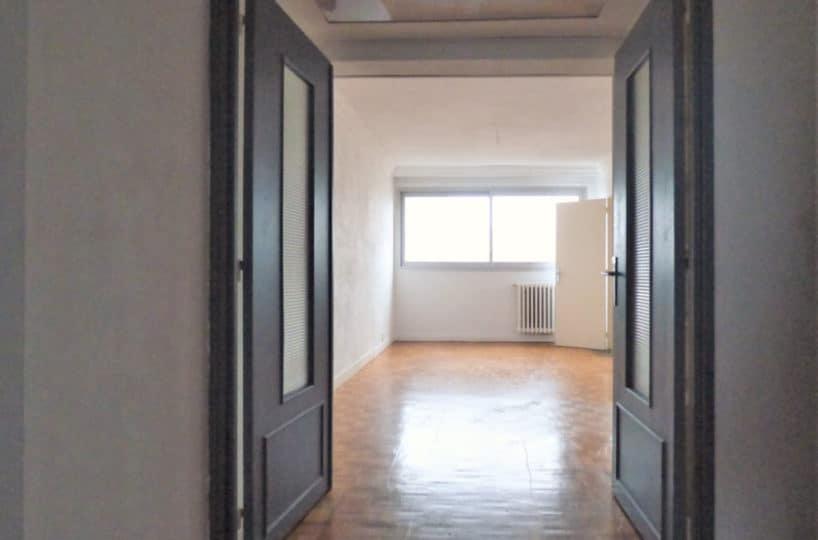 agence immo maisons alfort: appartement 3 pièces 59 m², double porte vitrée sur salon