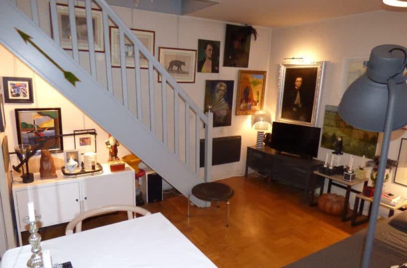 vente appartement 2 pieces alfortville: duplex 2 pièces, séjour, escalier pour chambre
