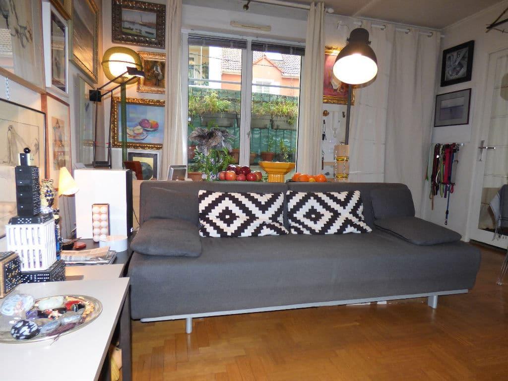 faire estimer appartement alfortville: 2 pièces 50 m², séjour ouvert sur petite cour