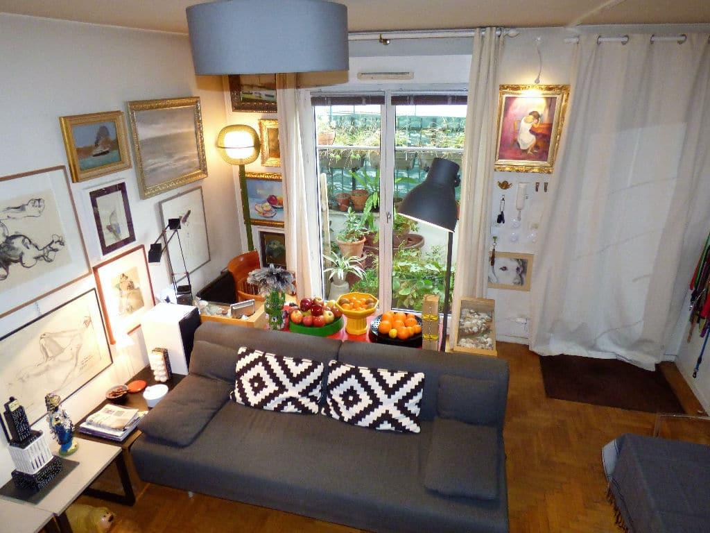 vendre appartement alfortville: 2 pièces 50 m², beau séjour lumineux avec petite cour