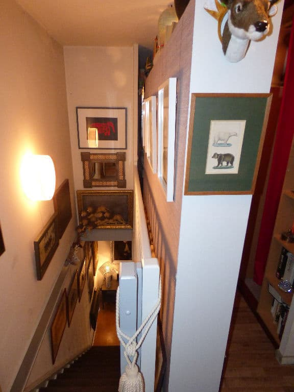 appartement a vendre alfortville: 2 pièces 50 m², escalier en bois allant séjour