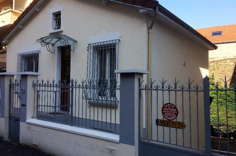 achat maison alfortville: maison 5 pièces 110 m² sur terrain arboté de 300 m², garage, atelier, véranda