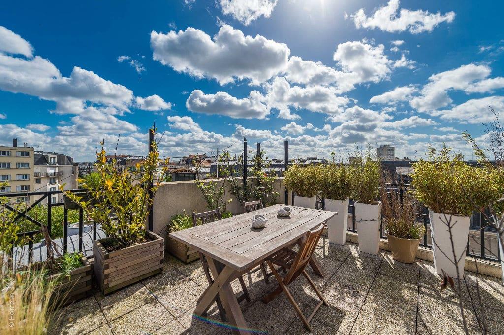 vente appartement charenton le pont: 3 pièces 74 m², dernier étage sur le toit, vue tour eiffel et sacré coeur