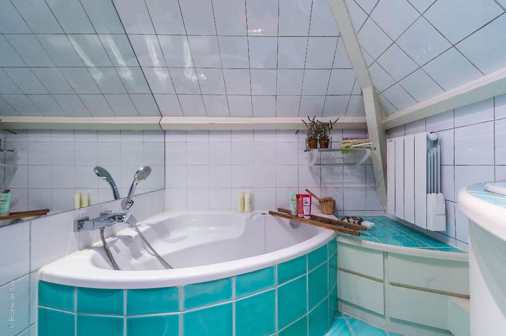immo charenton le pont: 3 pièces 74 m², salle de bain avec magnifique baignoire