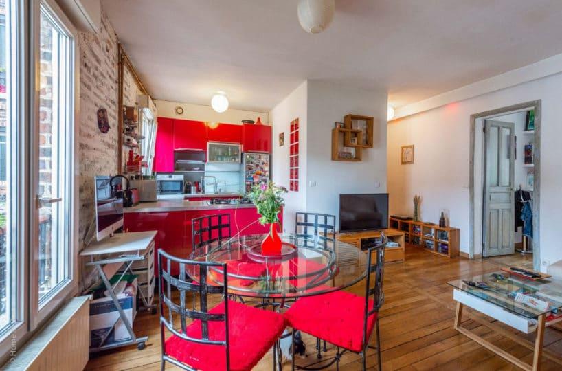 l adresse immobilier 94: 2 pièces 43 m² à vendre, cuisine ouverte sur pièce à vivre