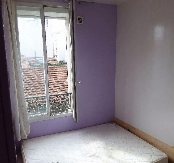 vendre appartement alfortville: 2 pièces meublé, chambre à coucher avec placard penderie