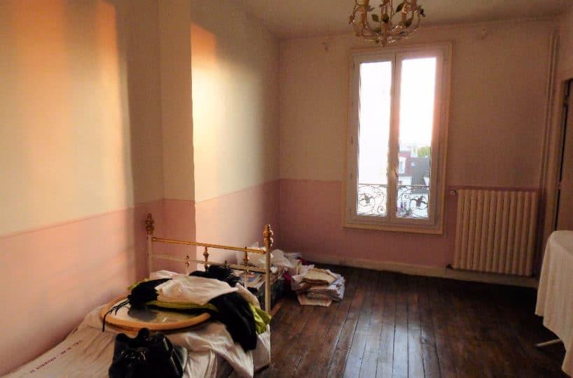 appartement maison alfort: appartement 3 pièces 68 m², chambre avec parquet au sol