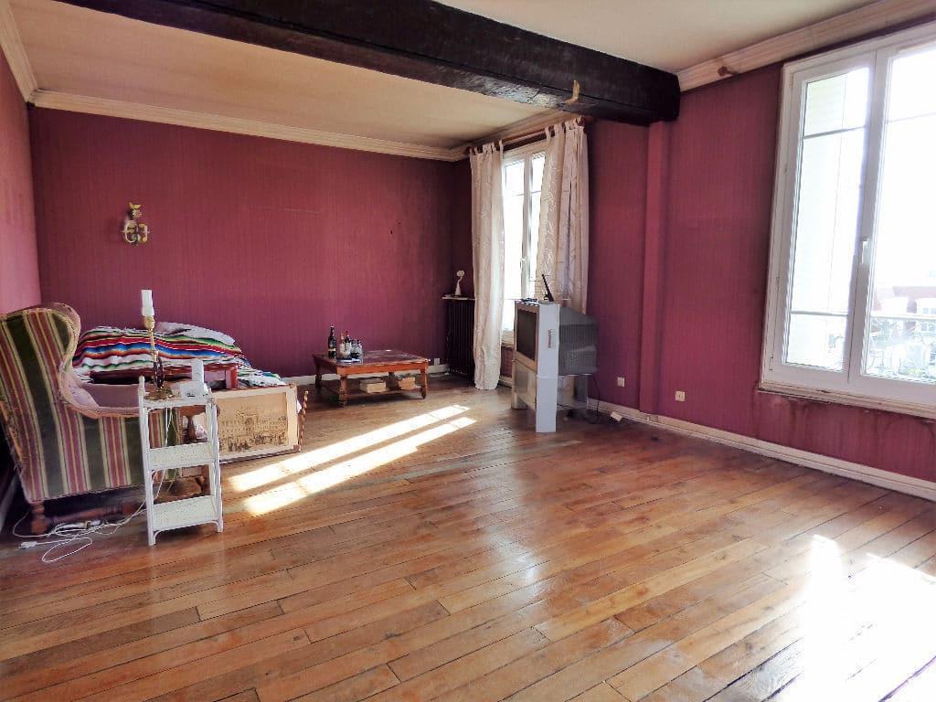 vente appartement maisons-alfort: 3 pièces 68 m², double séjour, avec poutre apparente